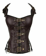 Women's Steampunk Style Corsets Rivet Decorations Polyester Buckle Patterned New