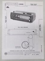 Sams Photofact Folder Radio Parts Manual General Electric C4332C Flip Clock