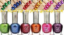 6 New Kleancolor Metallic GEL NO UV LED NAIL POLISH Colors Lacquer Set