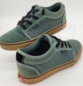 Vans Chukka Low Trekking Green Black Gum Canvas Size 5 Youth Women's 6.5