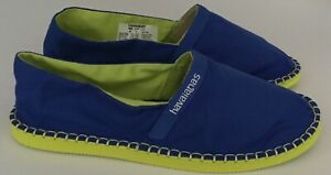 HAVAIANAS ESPADRILLES SLIP ON CANVAS-  BLUE- SIZE UK 6 BRAND NEW IN THE BOX
