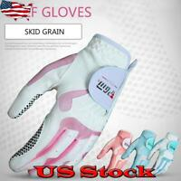 Womens Golf Gloves Left Hand & Right Hand Sport Cloth Breathable Palm Protection