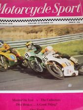 Motorcycle Sport 04/78 Morini Strada,Road Test ,Norton Inter, Mallory Park Races