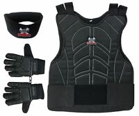 Maddog Chest Protector Tactical Glove Neck Protector Paintball Combo Black SMD