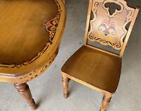 1949 ART DECO Missouri Furniture St Louis VINTAGE Wood Dining SET w TABLE Chairs