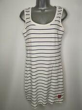 JOULES Marina Dress Size 10 Blue White Breton Striped Tennis Cotton