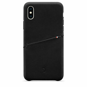 Decoded Leather Snap-On Case for iPhone XS MAX Black