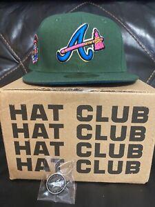 Hatclub exclusive Atlanta Braves Peacock size 7 3/8 New Era 5950