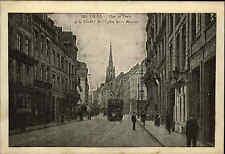 Lille AK 1915 Rue de Paris le Clocher de l'église St. Maurice Tram Straßenbahn