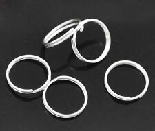 300 PCs Silver Plated Double Loops Open Jump Rings 12mm Dia. Findings SP0085