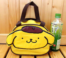 "Sanrio Pom Pom Purin Kawaii Nylon Lunch Bag 8""X6.75"" for Kids Color Yellow"
