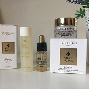 GUERLAIN ABEILLE ROYALE Day Cream + Watery Oil + Lotion Royal Jelly Genuine.