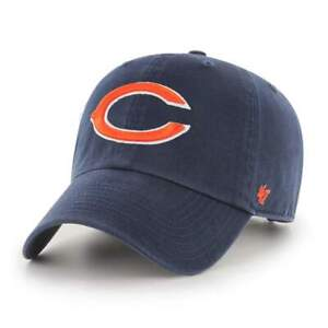 Chicago Bears 47 Brand Navy Clean Up Adjustable On Field Cotton Hat NFL