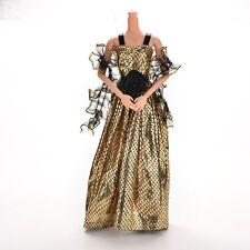 1X Krokodilkorn Ankunft Puppe Kleidung Kleid für Barbie Puppe mit Schal