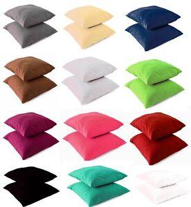 2 Stück Kissenbezug 40x40 UNI Kissenhüllen Kopfkissenbezug Baumwolle Renforce