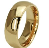 Mens gold PLAIN wedding ring band MANY SIZES K - Z4 engagement new ladies MN61