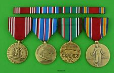 4 Army WWII European Theater full size Medals & Ribbons - Good Conduct Medal
