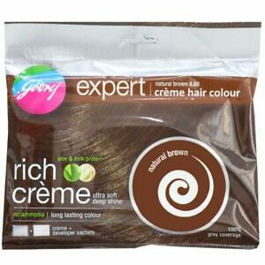 GODREJ EXPERT HAIR COLOR NO AMMONIA Natural Brown (pack of 10) 20 gm Each