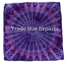 Indian Tie Dye Meditation Cushion Mandala Pillow Cover Large Floor Cushion Cases
