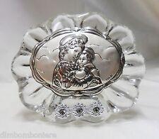 Bomboniera Icona in cristallo con Madonna battesimo