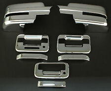 2009-2014 FORD F150 2DR CHROME DOOR HANDLE+MIRROR +TAILGATE HANDLE COVER+Keypad
