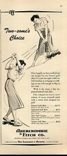 1952 Abercrombie & Fitch PRINT AD Women Fashion Golfing Clothes