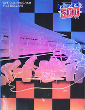 Vintage 1990 Indy 500 Race Program Near Mint 74th Arie Luyendyk's 1st Win