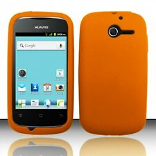 For Huawei Ascend Y H866C Rubber SILICONE Soft Gel Skin Case Cover Orange