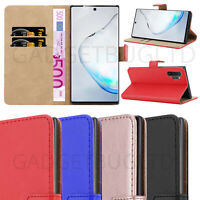 CASE FOR SAMSUNG GALAXY NOTE 10 PLUS REAL GENUINE LEATHER SHOCKPROOF WALLET FLIP