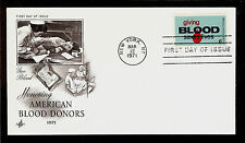 FIRST DAY COVER #1425 Giving Blood Saves Lives 6c ARTCRAFT U/A FDC 1971