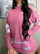 Victoria's Secret VS PINK Stadium Begonia Crew Mock Neck Sweater Pullover S