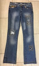 Sz 30 PEPE JEANS LONDON Ladies Patchwork Painted Denim Jeans Bootcut
