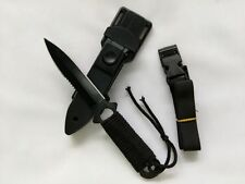 """US Military Utility Survival Hunting Tactical Black Throwing Dive 8"""" Knife #"""