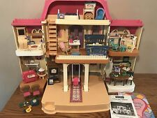 1999 FISHER PRICE LOVING FAMILY DOLL HOUSE BOX Paperwork Furniture Dollhouse Lot