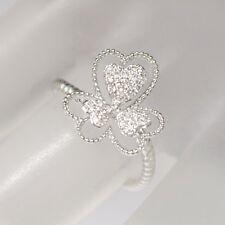 Ring mit drei Herzen 0,15ct TW-si Brillant  750/18K Weißgold Neu