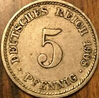 1908 GERMAN 5 PFENNIG
