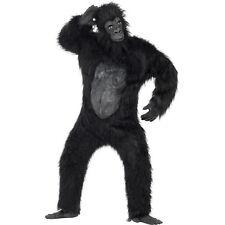 Men's Women's Deluxe Quality Gorilla Black Fancy Dress Costume Hen Stag Zoo Fun