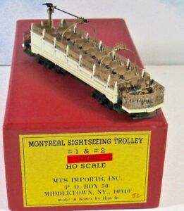 *MONTREAL SIGHTSEEING TROLLEY*  MTS IMPORTS  F/P HO Scale Brass  ***EXCELLENT***