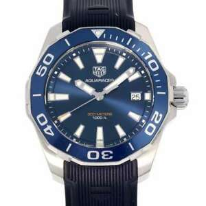 TAG HEUER Aqua racer 41mm Stainless Steel/Rubber Strap Blue Dial WAY111C.FT6155