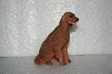 Irish Setter Dog Figurine Sitting Pretty Resin