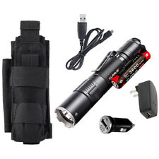 Klarus XT2CR Rechargeable Flashlight w/Battery, USB Cord, Car & Wall Adaptors