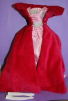 Barbie Sophisticated Lady PINK VELVET CAPE & GOWN w/ GLOVES Vintage Reproduction