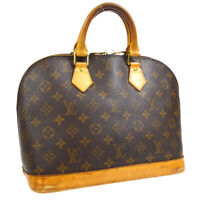 LOUIS VUITTON ALMA HAND BAG BA0070 PURSE MONOGRAM CANVAS M51130 VINTAGE 31637
