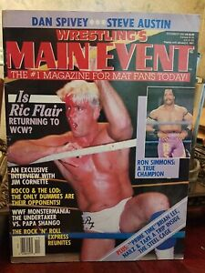 WRESTLING'S MAIN EVENT magazine December 1992 Ric Flair & Ron Simmons on cover