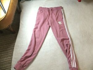 ADIDAS ORIGINALS PINK JOGGERS TRACK PANTS TRACKSUIT BOTTOMS SIZE 10 SMALL     27