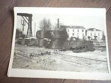 PHOTO 1947 CONSTRUCTION DU PONT DU TEIL RHONE BRIDGE DECHARGEMENT GARE CABLES