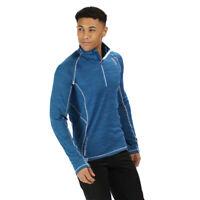 Regatta Mens Yonder Half Zip Fleece Top - Blue Sports Outdoors Breathable