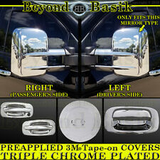 1999-2006 SILVERADOChrome Door Handle W/O PSK+Gas+Tow Mirror+Tailgate COVERS 2DR