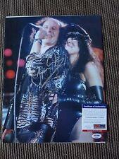 Klaus Meine Scorpions Live Concert Signed Color 11x14 Photo PSA Certified #2