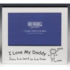 "I LOVE MY DADDY PICTURE PHOTO FRAME 5"" X 3.5"" FREE-STANDING LACQUER-COATED"